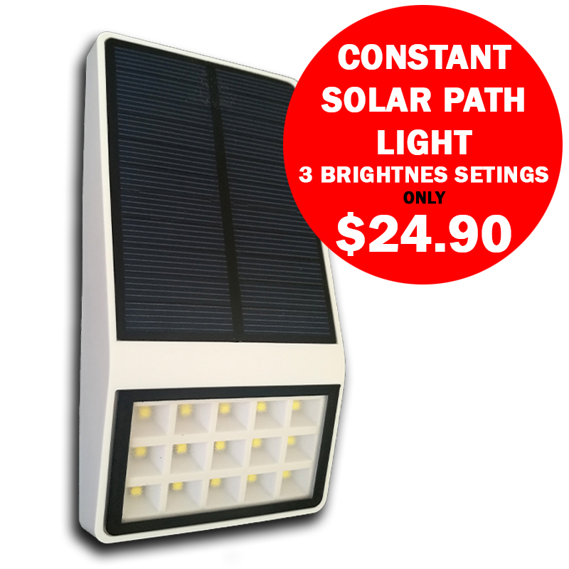 Solar Lamp Constant Light 3 Brightness Settings